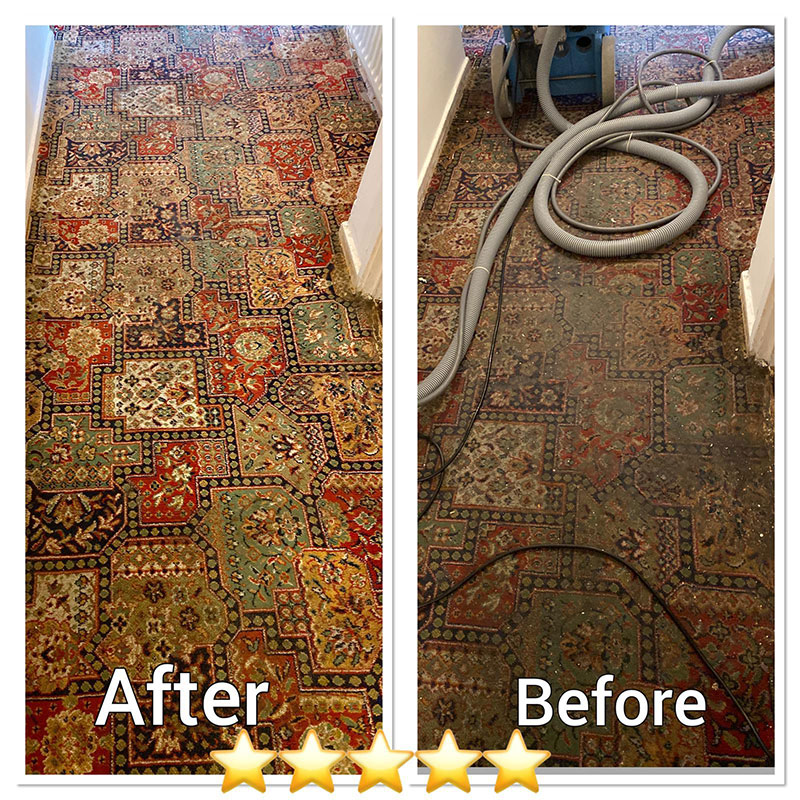 Before After Image 2 - Ryan Carpet Cleaning